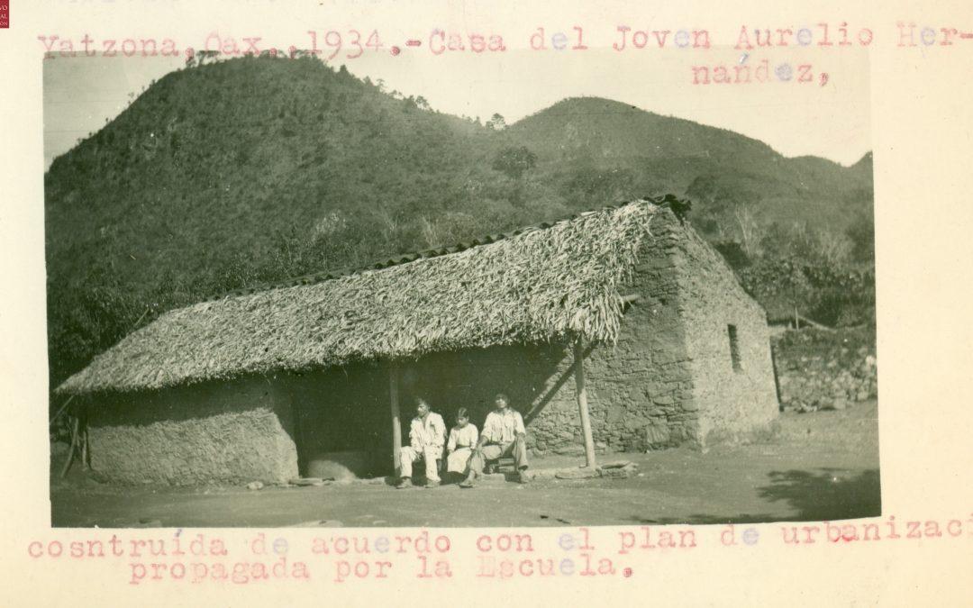 Casa del joven Aurelio Hernández, construida de acuerdo con el plan de urbanización propagada por la escuela. 1934.